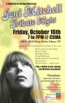 Joni Mitchell Tribute Concert Poster 2009