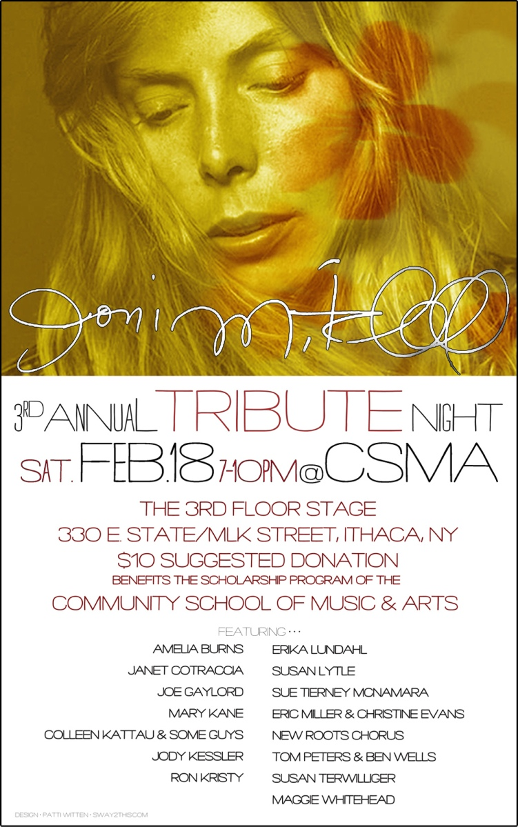 Poster: Joni Mitchell Tribute Night 2012