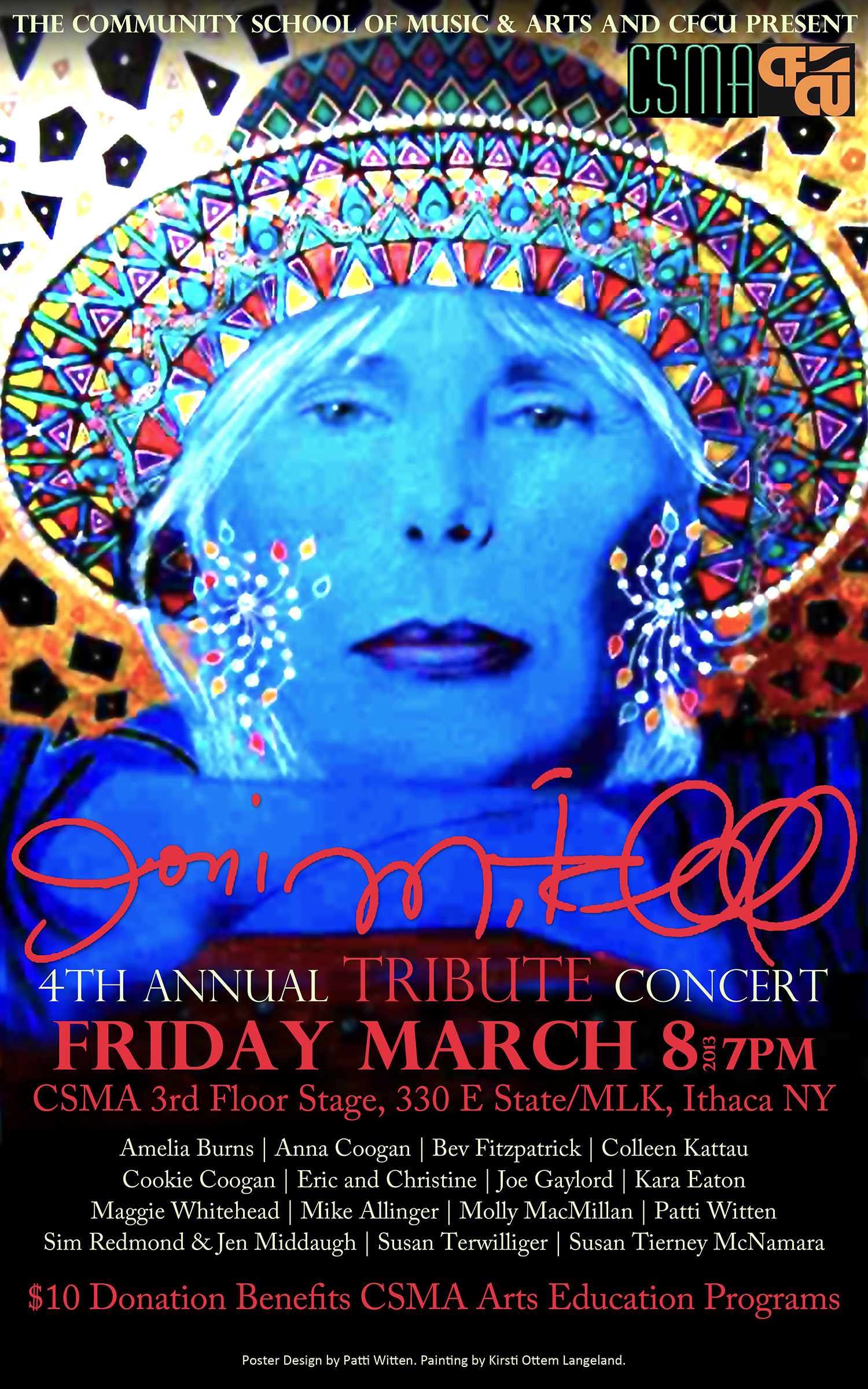 poster 4th annual joni mitchell tribute concert. Black Bedroom Furniture Sets. Home Design Ideas