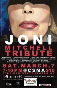 Poster design: Joni Mitchell Tribute concert 2015