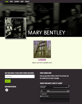 Mary Bentley Music Website